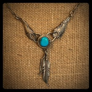 Silver & turquoise necklace 💕💕💕